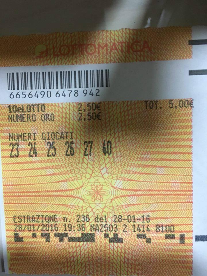 Airola. Vinti 12500 euro al 10 e lotto