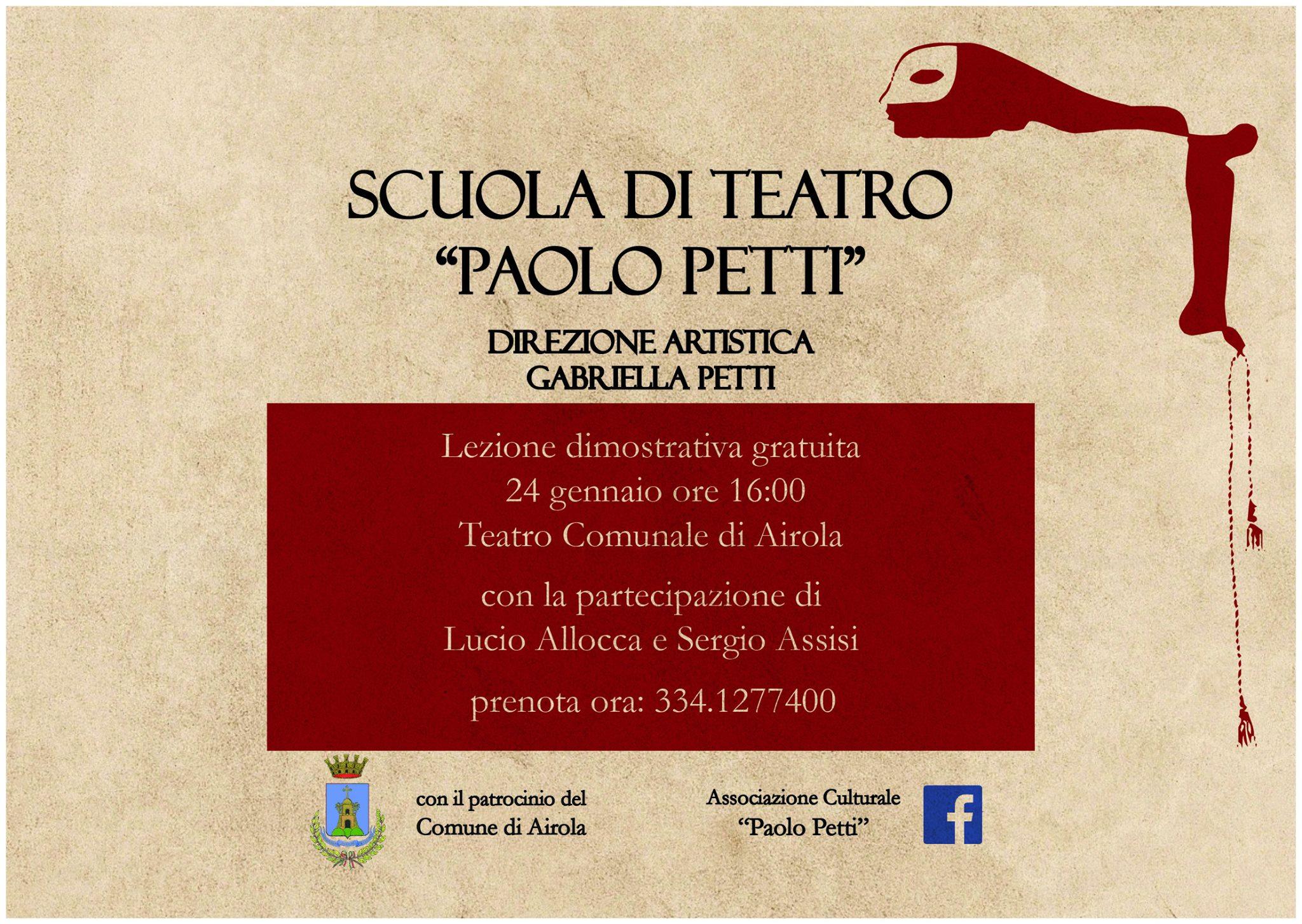 Airola. Una scuola di teatro in memoria di Paolo Petti.