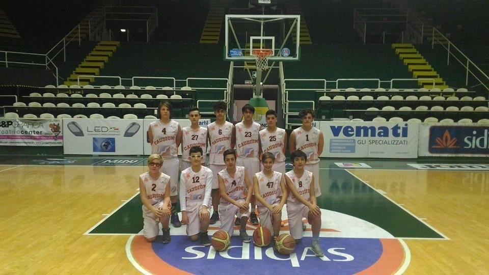 Caudium Basket Under 14 a gonfie vele. Al timone coach Parrillo.