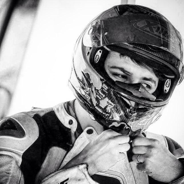 Giancarlo Liberati in gara oggi nella Supermoto.
