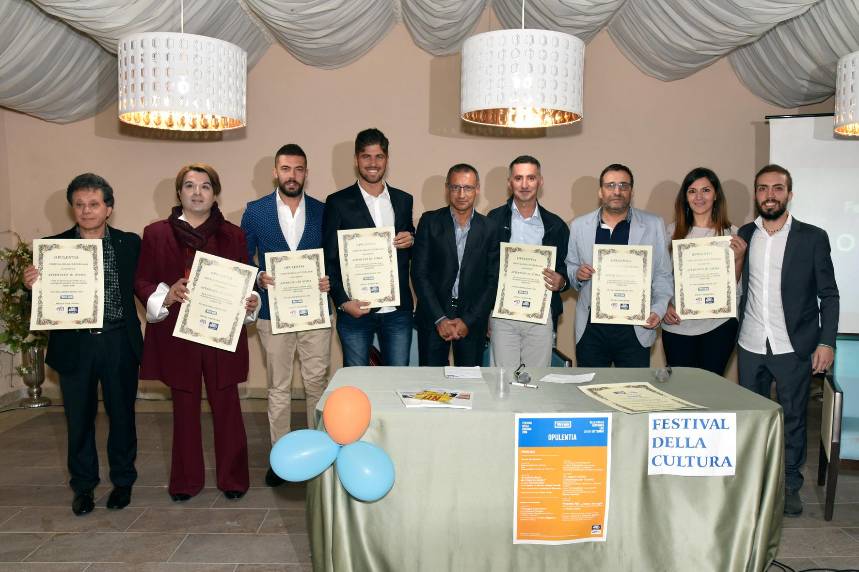 Cervinara|Successo per il festival della Cultura Opulentia ed il premio Eroi Quotidiani.