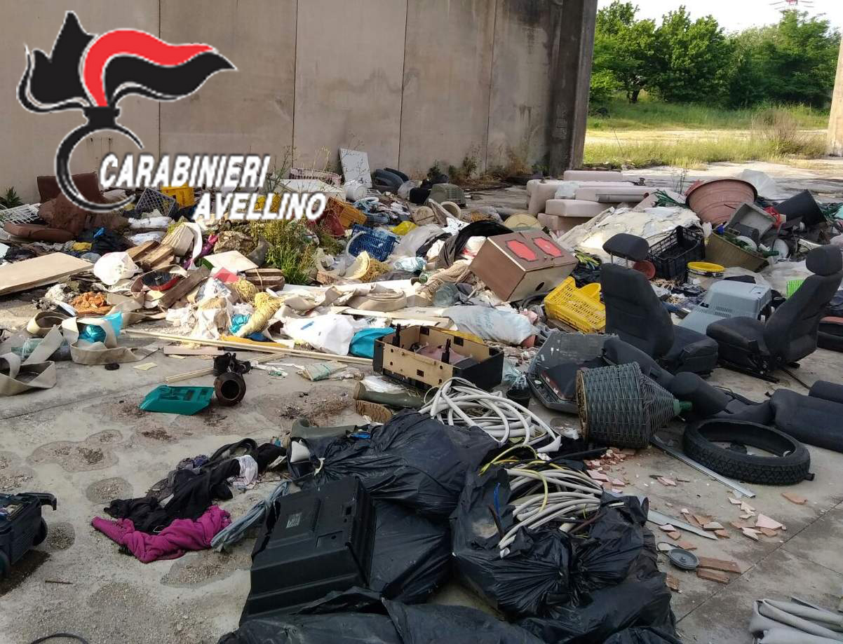 CERVINARA  GESTIONE ILLECITA DI RIFIUTI: 40ENNE DENUNCIATO DAI CARABINIERI