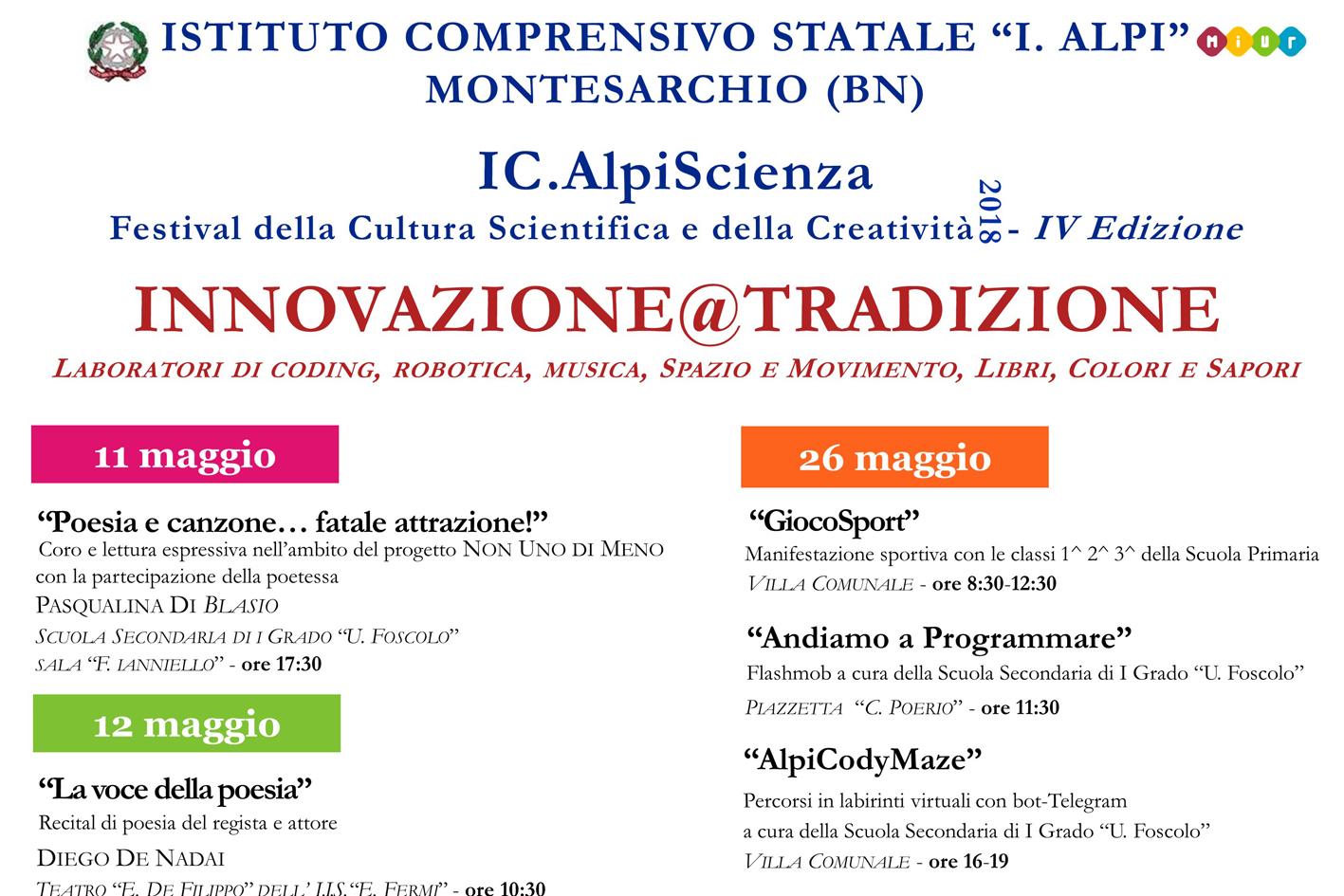 Montesarchio | Festival della Cultura Scientifica e della Creatività all'Istituto Ilaria Alpi