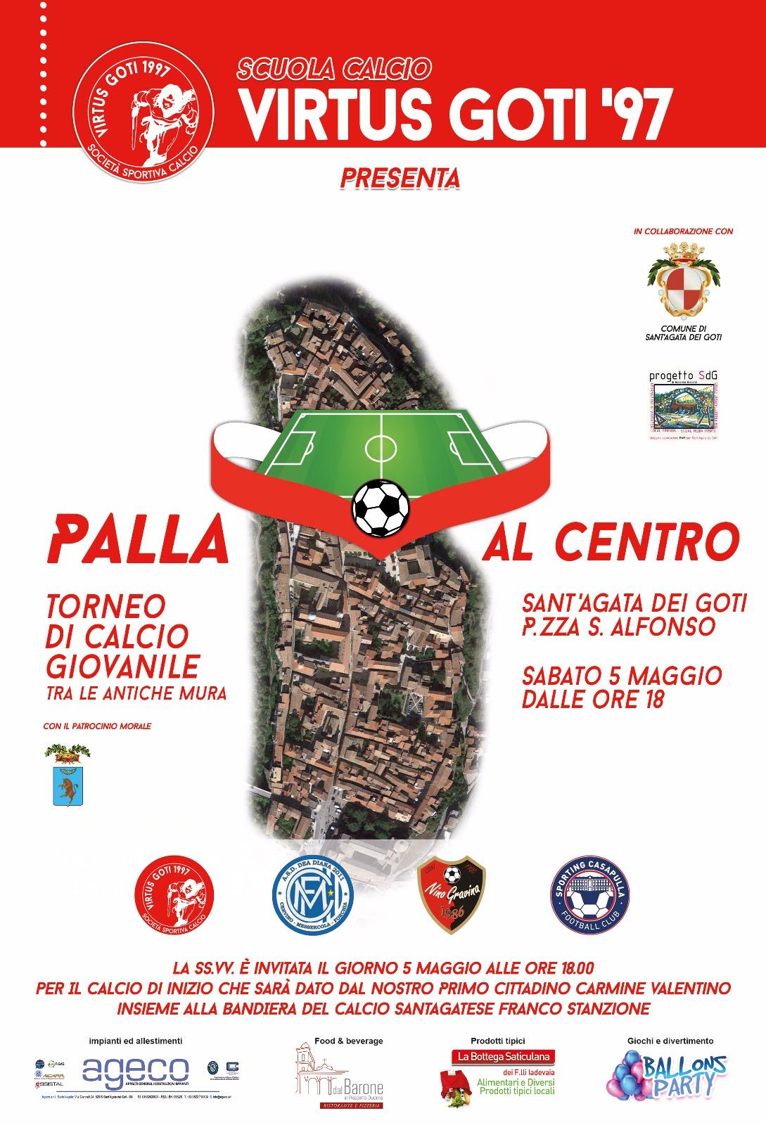 """""""Palla al centro"""", oggi il torneo Virtus Goti"""