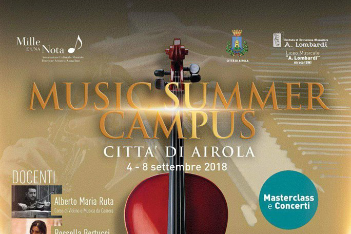 """Airola: """"Music Summer Campus"""", domani il via alle masterclass internazionali"""