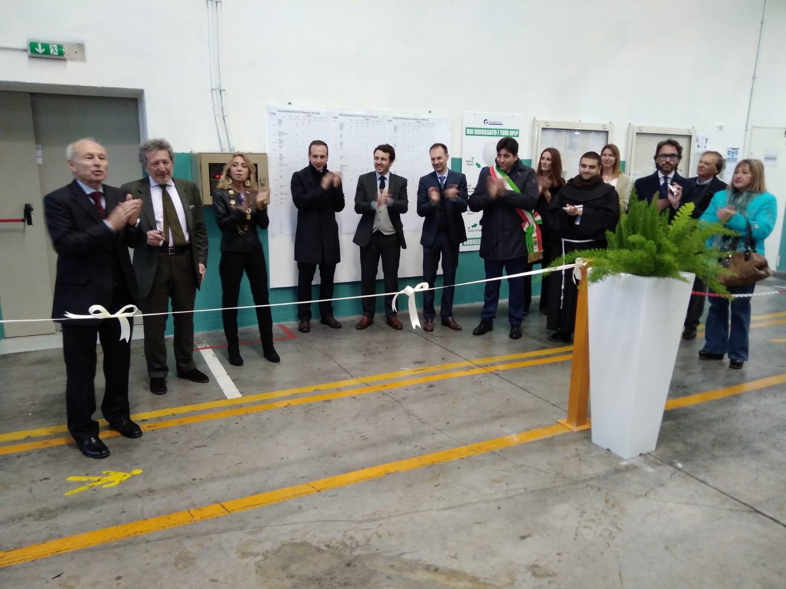 Airola, inaugurato stabilimento Cornaglia Sud