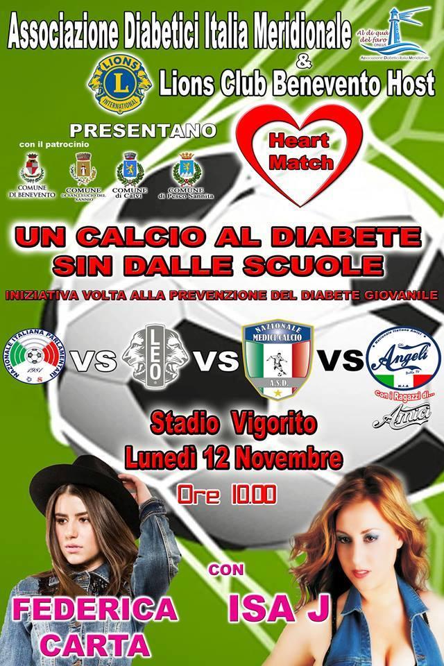 "Benevento: ""Un calcio al diabete"""