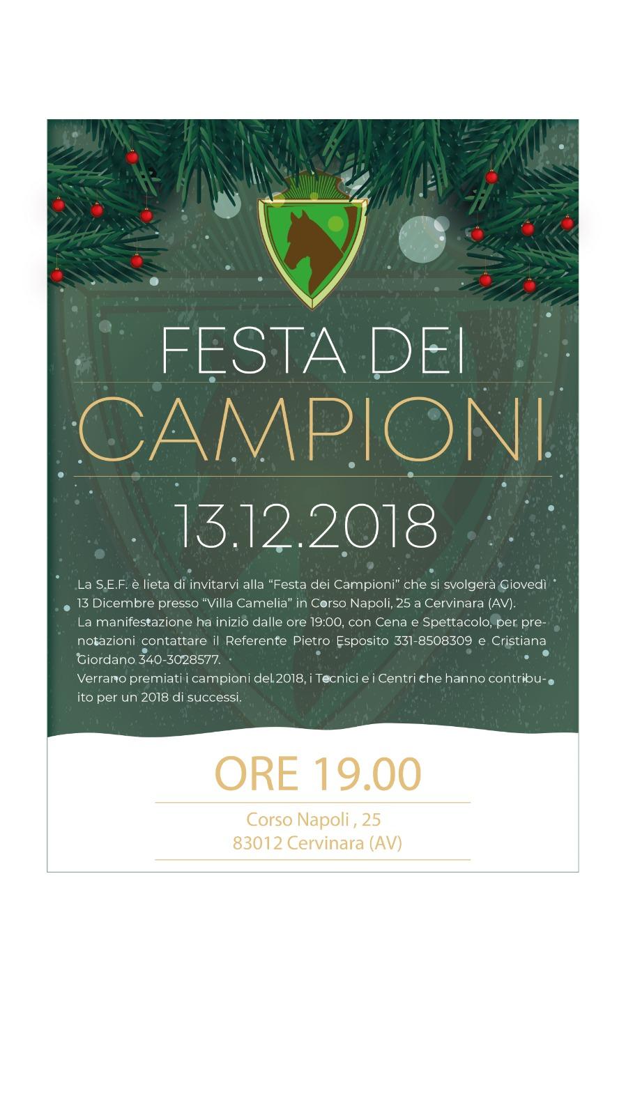 Cervinara | Festa dei Campioni SEF Italia