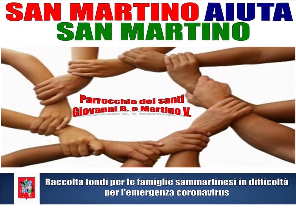 San Martino. Il supporto della Caritas Parrocchiale.