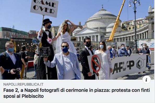 Protesta Fotografi a Napoli. Il nostro direttore in prima linea.