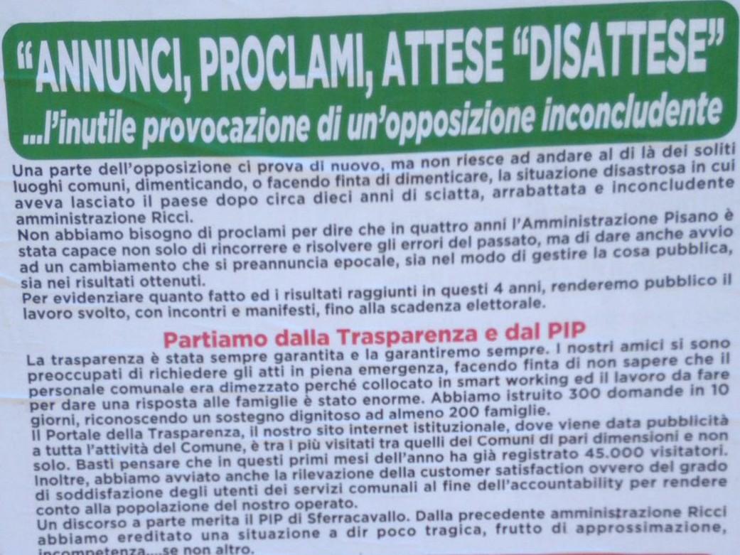 San Martino. La risposta del PD al manifesto dell'Amministrazione.