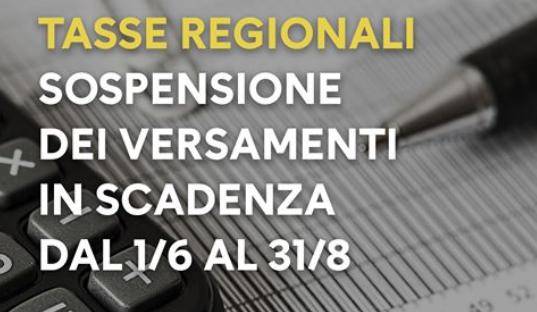 Campania. SOSPENSIONE ADEMPIMENTI TRIBUTARI REGIONALI