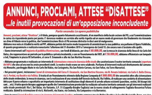 San Martino. Continua il confronto tra maggioranza e opposizione.