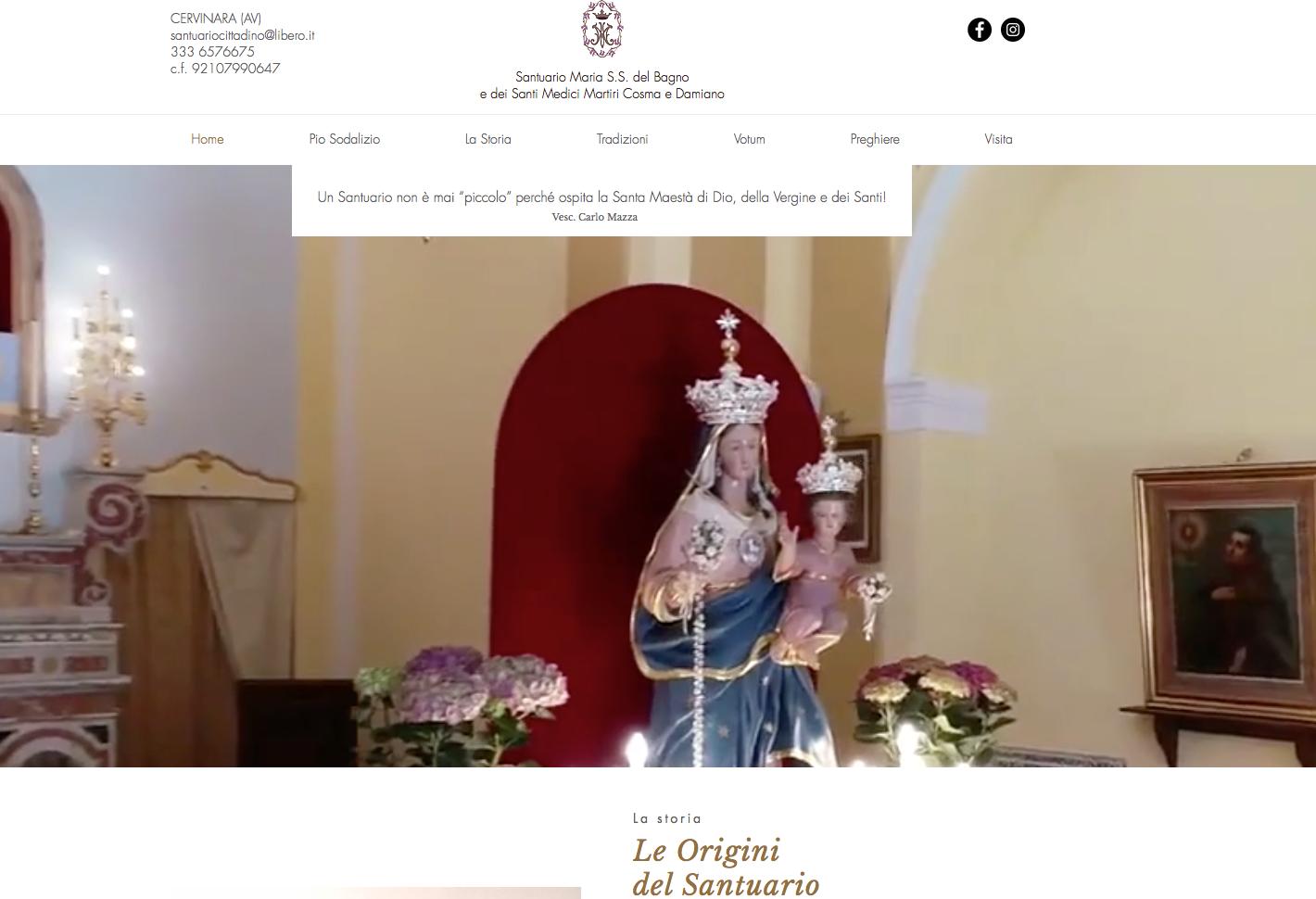 Cervinara. Il Santuario di San Cosma ha il suo sito internet