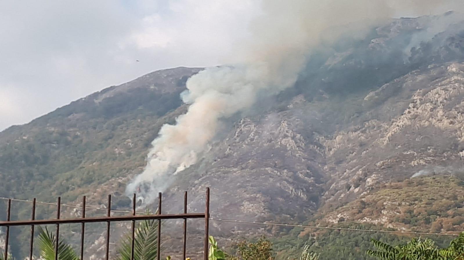 Bucciano, Taburno in fiamme: ingenti i danni al patrimonio boschivo