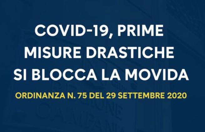Campania. De Luca: nuove regole restrittive anti covid.