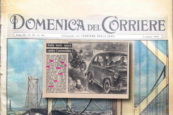 Cervinara in Cronaca nera sulla Domenica del Corriere del 1961.