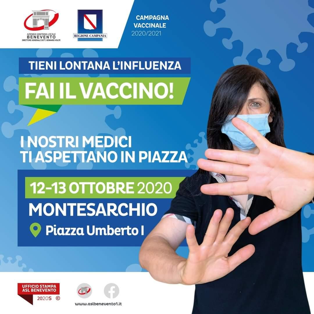 Montesarchio, arriva il camper per le vaccinazioni anti influenzali