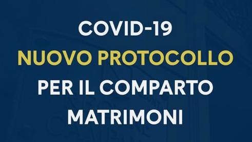 Covid. Nuovo protocollo per i matrimoni
