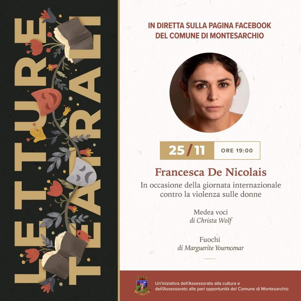 Montesarchio. Contro la violenza sulle donne: questa sera lettura in streaming.