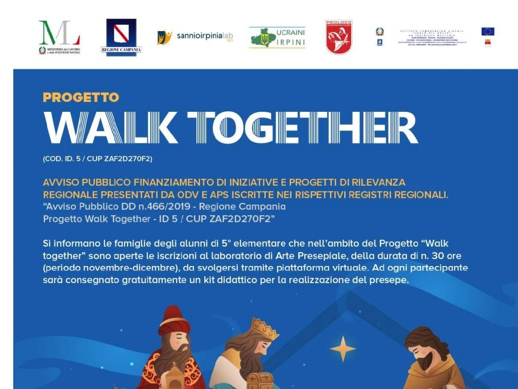 San Martino. Progetto Walk Together: scuola e Proloco.