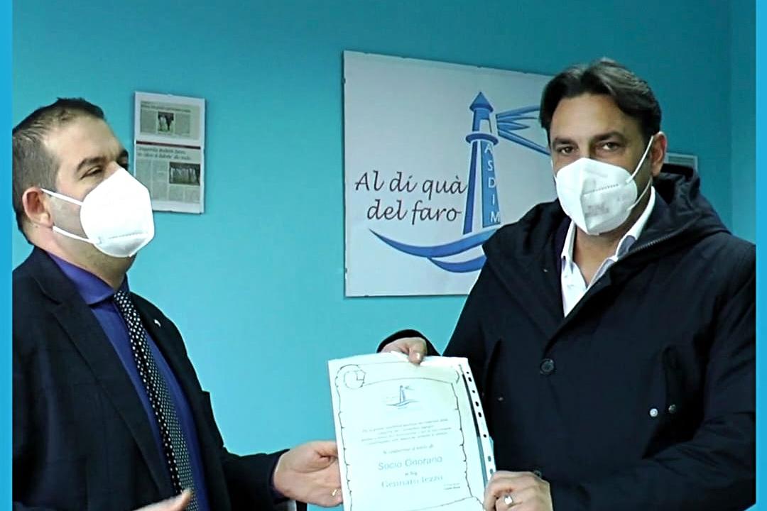 Gennaro Iezzo, ex capitano del Napoli Calcio, è Socio Onorario dell'Associazione Diabetici