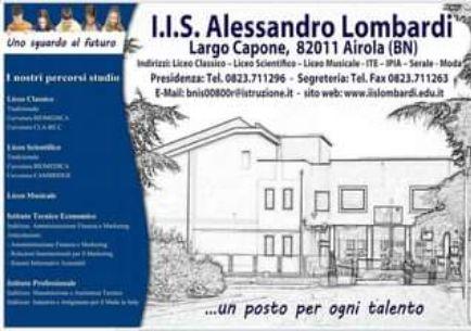 Airola. Istituto Lombardi: Sabato e Domenica Open day