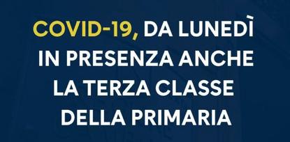 Campania. Da Lunedì anche la terza classe della primaria in presenza