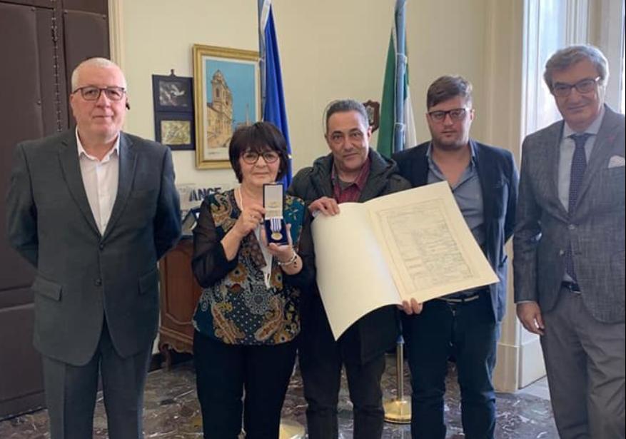 San Martino. Medaglia d'Onore per Alessandro Lanzotti.