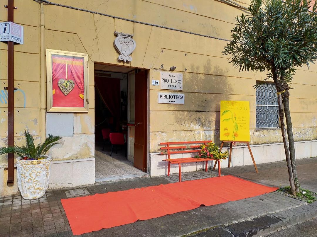 Pro loco Airola, inaugurata panchina rossa