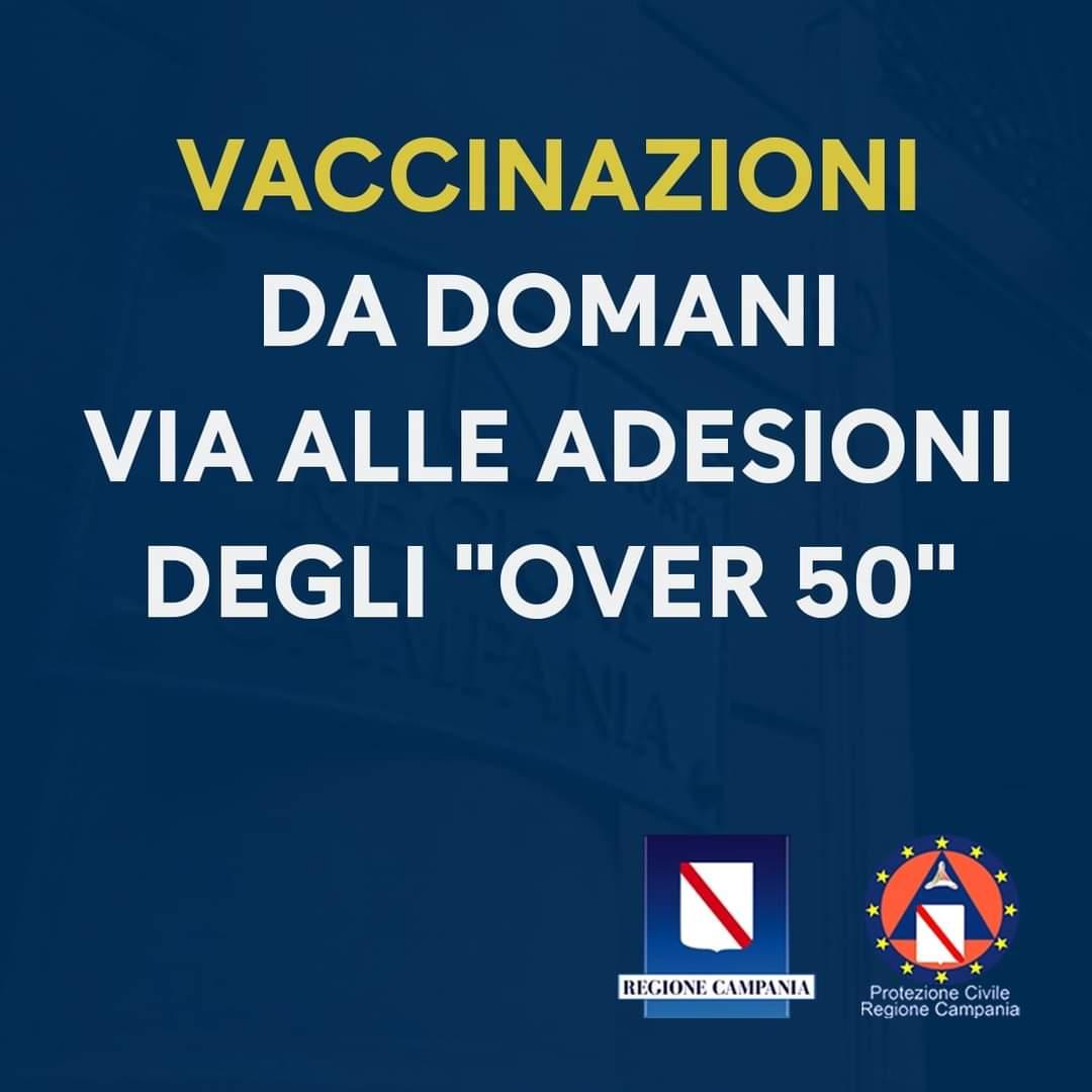 Over 50 Campania, al via prenotazione vaccini
