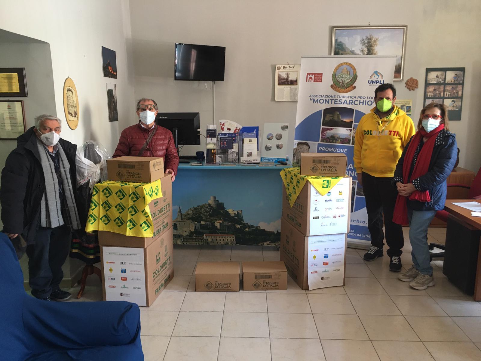 Montesarchio. La Coldiretti Campania in aiuto ai più bisognosi.