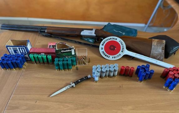 Montesarchio. Ritrovate armi dalla Municipale.