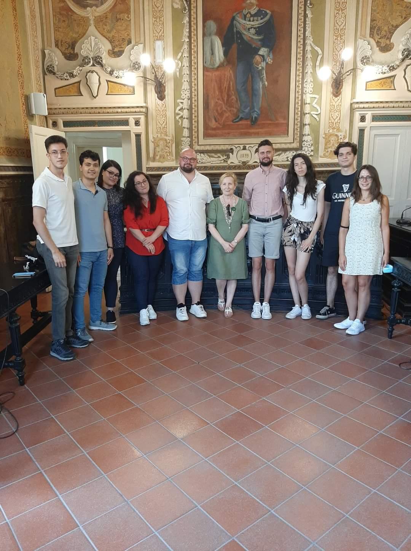 Sant'Agata, studenti Erasmus in Comune