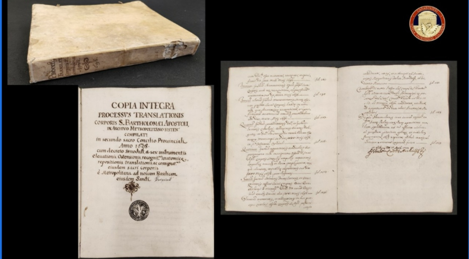 Manoscritti  rubati all'Arcidiocesi di Benevento, Cc li recuperano