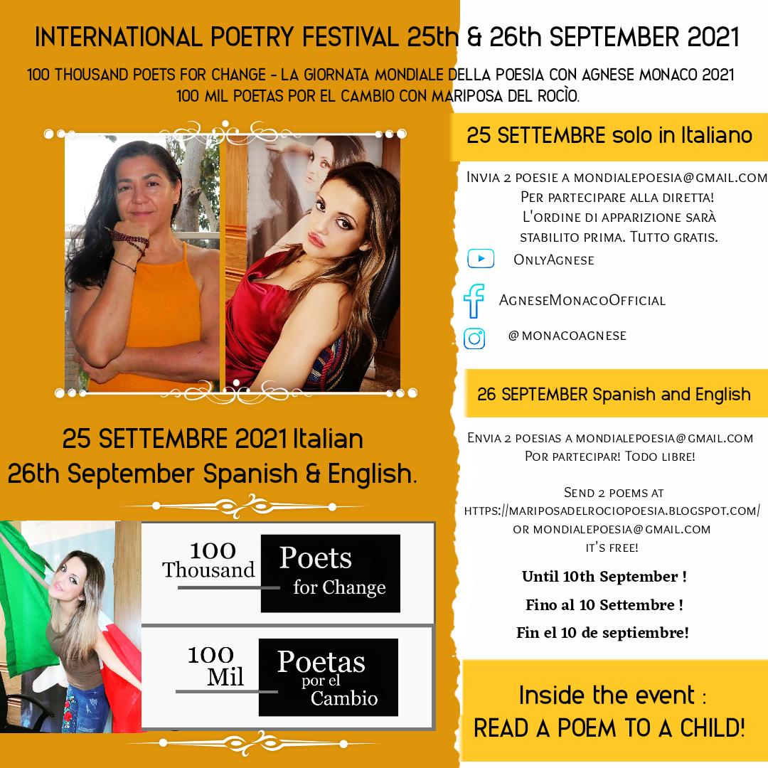 Festival Globale della Poesia 2021 con Agnese Monaco.