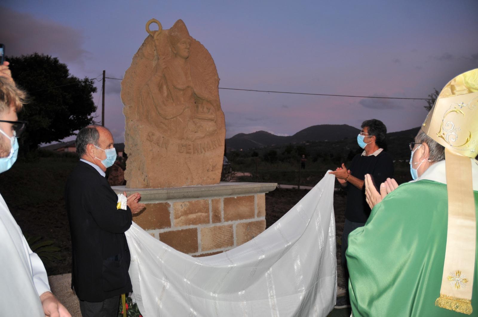 Presta, inaugurato busto San Gennaro