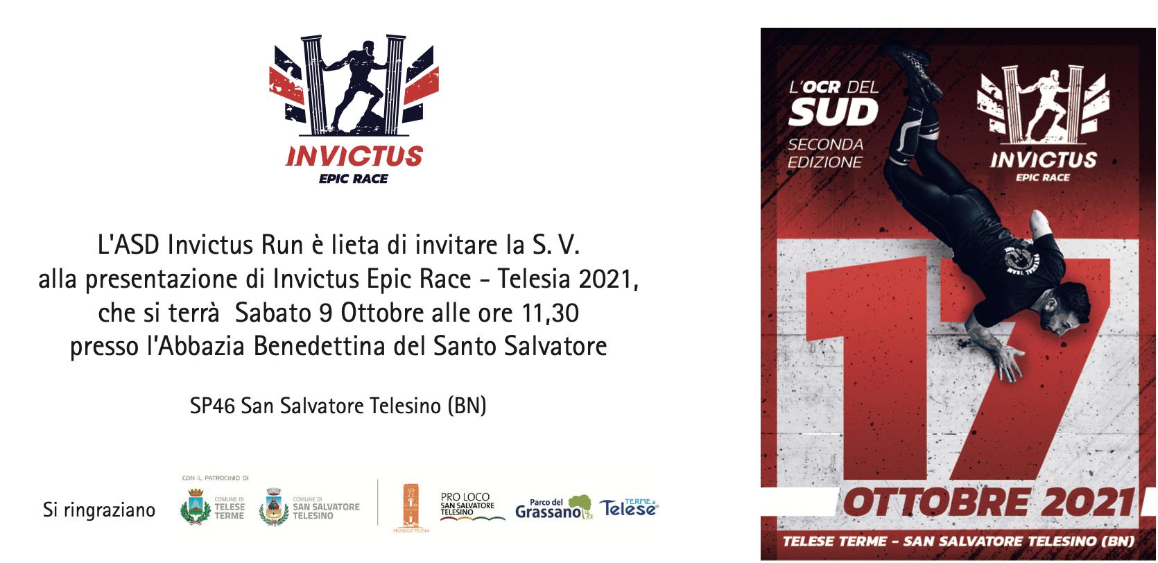 INVICTUS EPIC RACE – L'OCR DEL SUD – 17 OTTOBRE 2021